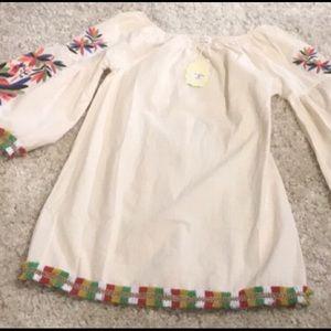 VELZERA off shoulder BoHo style dress